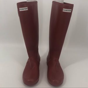 Hunter Red Rubber Rain Boots